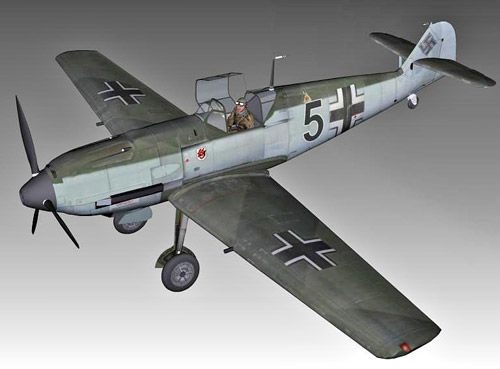Messerschmitt Bf109e 3d model