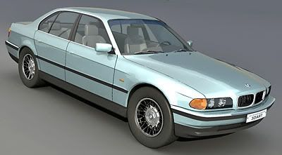 BMW 750i 3d model