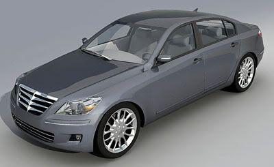 Hyundai Genesis 3D Model