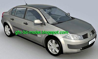 Renault Megane Sedan 3d model