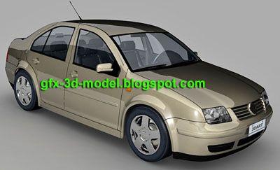 Volkswagen Bora 3d model