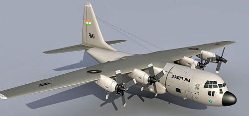 Lockheed C130 Hercules 3d model
