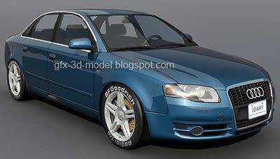 Audi A4 3.2 QUATTRO 3d model