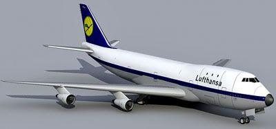 Boeing 747 JumboJet 3d model
