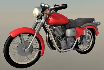 Motor Cycle Bullet 3d model