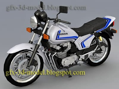 Honda CB8750 F Bike 3d model