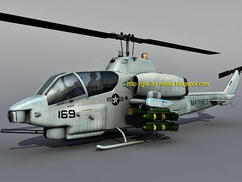 AH-1 Super Cobra 3d model