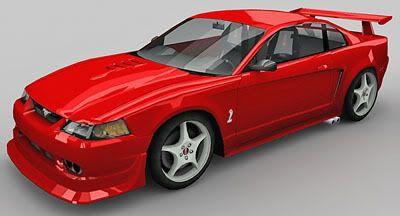 Ford SVT Mustang Cobra R 3d model