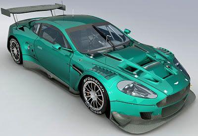 Aston Martin DBR9 3d model – materials
