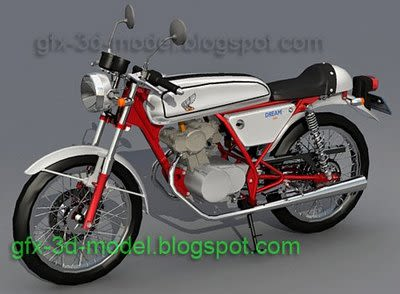 Honda Dream50 bike 3d model