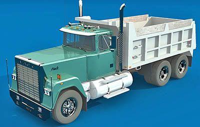 Mack Dumper 3d model
