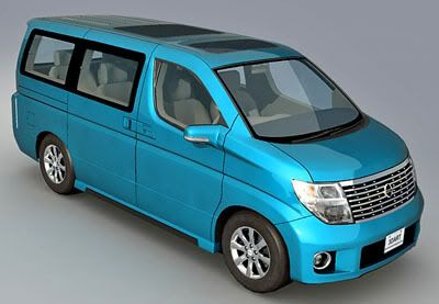 Nissan Elgrand 3d model