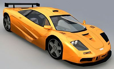 McLaren F1 LM – Lowpoly