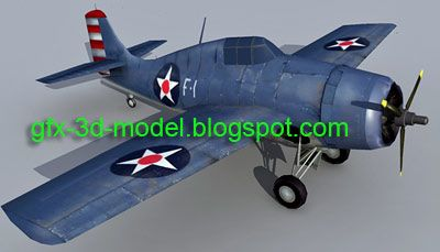 F4F Wildcat 3d model