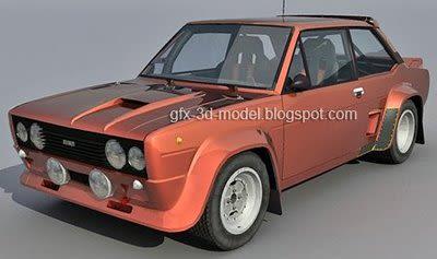 Fiat 131 Abarth 3d model