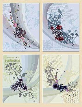 Floral Design Vectors – Pack 3