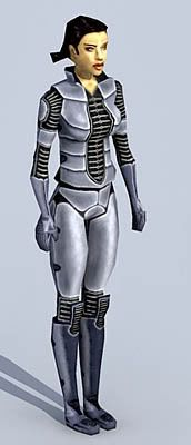 Futuristic Female 3d model