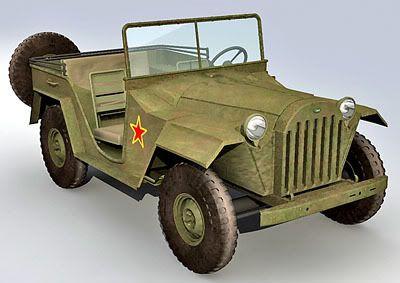 GAZ 67b 3d model