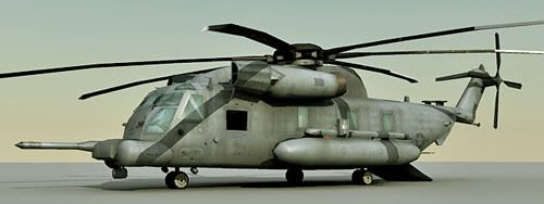 H53 Sea Stallion Helicopter 3d model