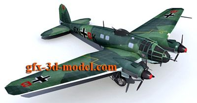 Heinkel He 111 aicraft 3d model