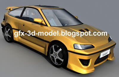 Honda CRX 3d model