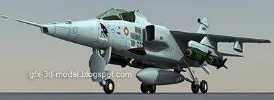 Jaguar aircraft 3d model