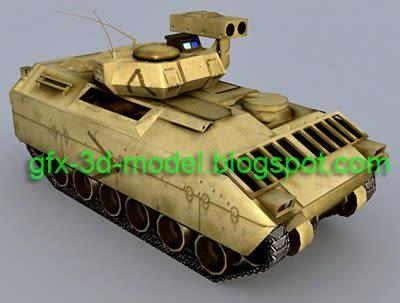 M2 Tank 3d model