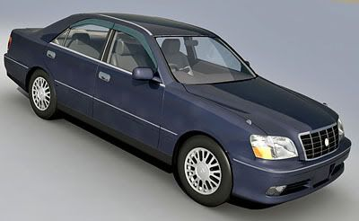 Toyota Crown Majesta 3d model