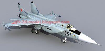 MIG 31 3d model