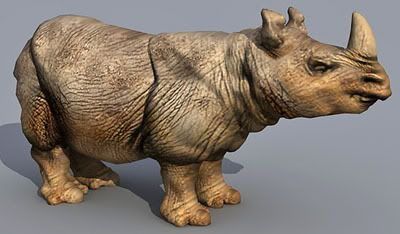 Lowpoly Rhino