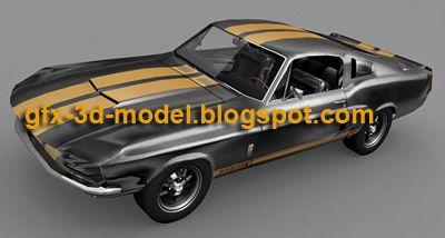 1967 Shelby Mustang car model