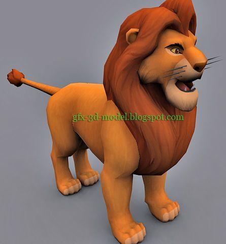 Simba 3d model