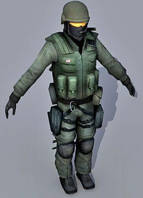 3D Soldier Model 08