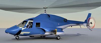 Supercopter Bell 222 3d model