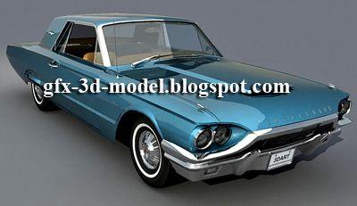 Ford Thunderbird 1964 3d model
