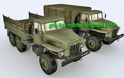 Ural 375 3d model