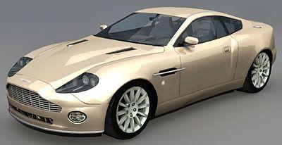 Aston Martin V12 Vanquish – Lowpoly