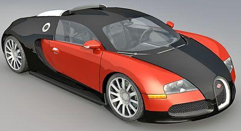 Bugatti Veyron – Lowpoly 3d model