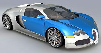 Bugatti Veyron – Medium Poly 3d model