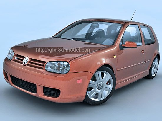 Volkswagen Golf 4 3d model