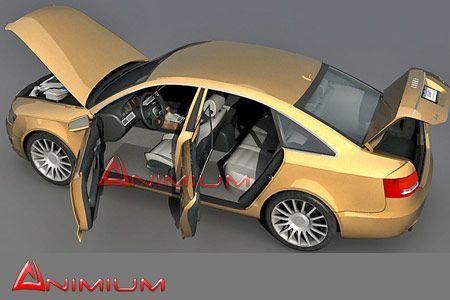 Audi A6 TDI free 3d model