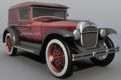 Pearce 1931 vintage car 3d model