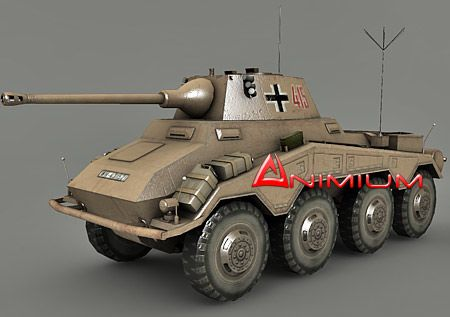 SDKFZ 234 Puma 3d army vehicle