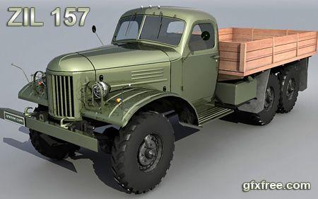 Zil 157 3d truck model