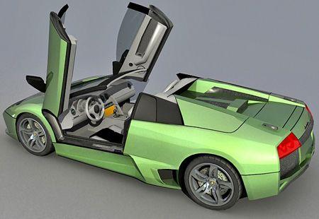 Lamborghini Murcielago Roadster free 3d model