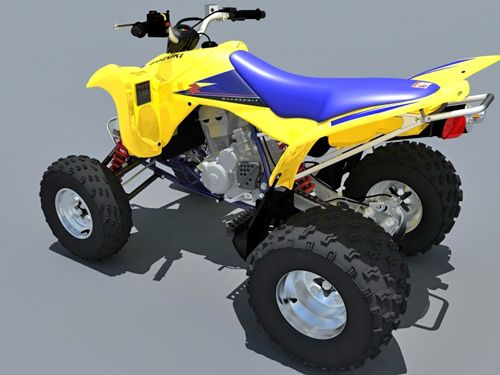Suzuki LTZ400 Quad bike 3D model – Animium 3D Models