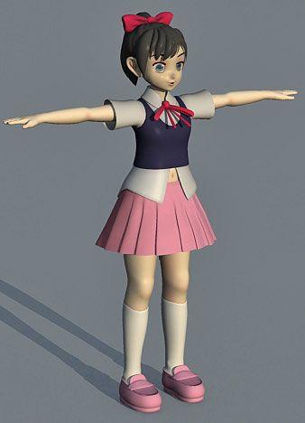 Girl Anime 3d character model