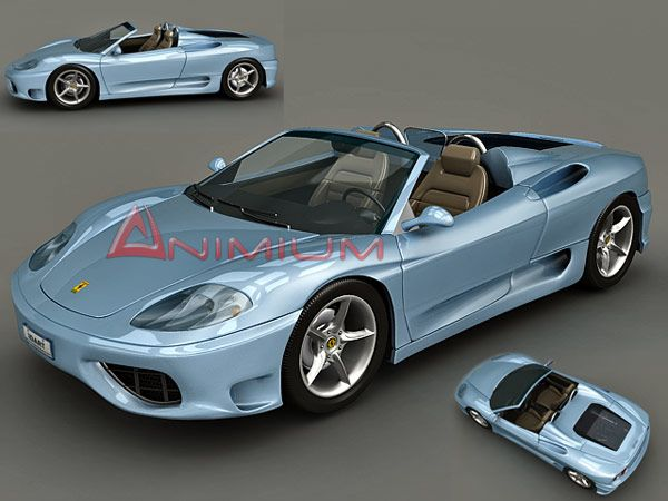 3d models Ferrari 360 Spider