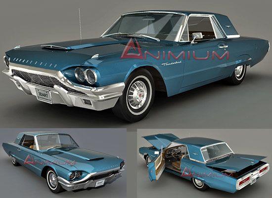 1964 Ford Thunderbird 3d model