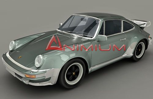 1982 Porsche 911 SC Targa 3d model